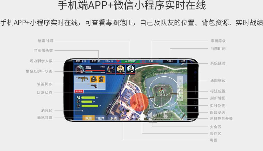 手机端APP+微信小程序实时在线